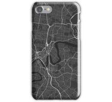 Brisbane, Australia Map. (White on black) iPhone Case/Skin