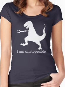 T-Rex I Am Unstoppable Women's Fitted Scoop T-Shirt