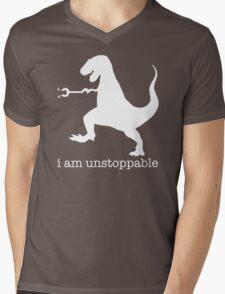 T-Rex I Am Unstoppable Mens V-Neck T-Shirt
