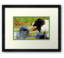 CONGRATULATIONS! - Top 10 Challenge Winner - Pets Are Us  Framed Print