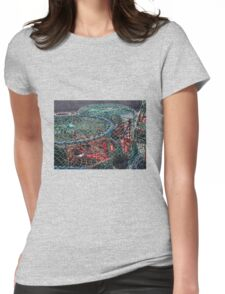 Fishing Circles Womens Fitted T-Shirt