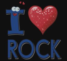 I LOVE ROCK MUSIC. Kids Clothes