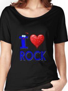 I LOVE ROCK MUSIC. Women's Relaxed Fit T-Shirt