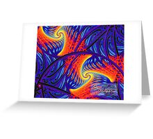 flame thrower Greeting Card