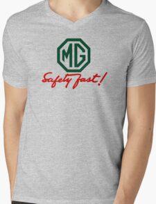 MG Safety Fast Mens V-Neck T-Shirt