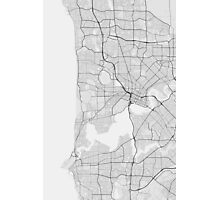 Perth, Australia Map. (Black on white) Photographic Print