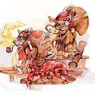 Tea klipper workers by Maryna  Rudzko