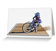 Racing on the Edge Greeting Card