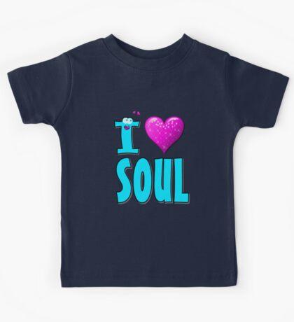 I LOVE SOUL MUSIC Kids Tee