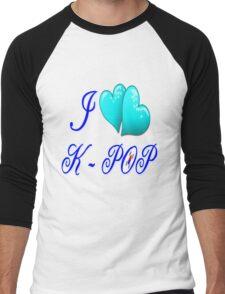 I LOVE K-POP Men's Baseball ¾ T-Shirt