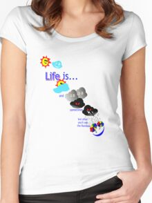 Life is like the weather. Women's Fitted Scoop T-Shirt