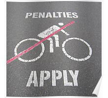 No Javelin Cyclists Allowed  Poster