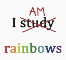 i study am rainbows Kids Tee