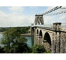 Menai Suspension Bridge Photographic Print