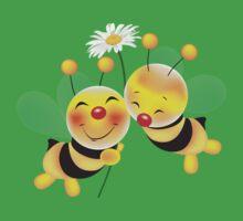 bees in love Kids Tee