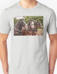 The Three Amigos - Heavy Work Horses T-Shirt