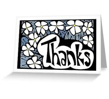 Floral Thanks Greeting Card