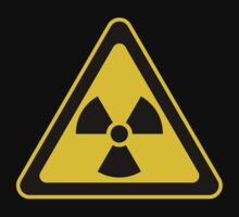 Radioactive Symbol Warning Sign - Radioactivity - Radiation - Yellow & Black - Triangular by graphix