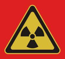 Radioactive Symbol Warning Sign - Radioactivity - Radiation - Yellow & Black - Triangular Kids Tee