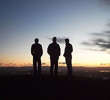 Silhouette sunset at Mt Eden by chrissy mitchell