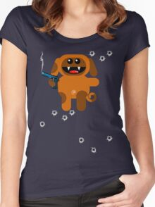 DOG 5  (Armed and highly dangerous!) Women's Fitted Scoop T-Shirt