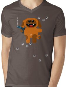 DOG 5  (Armed and highly dangerous!) Mens V-Neck T-Shirt