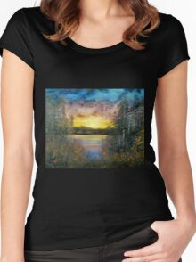 Sunset Glow Women's Fitted Scoop T-Shirt