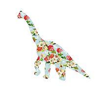 Floral Dinosaur Photographic Print