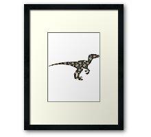 Floral Dinosaur Framed Print