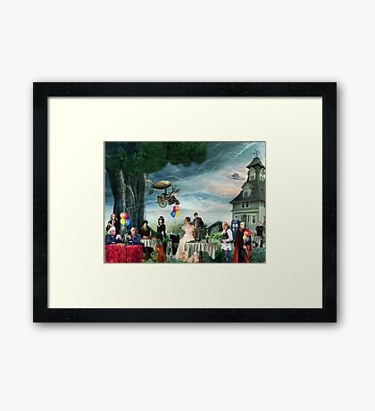 Stephen Hawking's Party (products revised) Framed Print