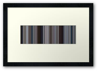 Moviebarcode: Jaws (1975) [Simplified Colors] by moviebarcode