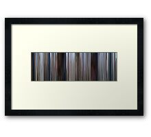 Moviebarcode: Jaws (1975) Framed Print