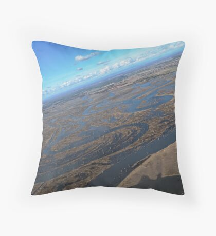 Mud Flats of Lake Mulwala Throw Pillow