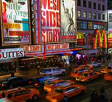 Times Square Rush by Cameron B