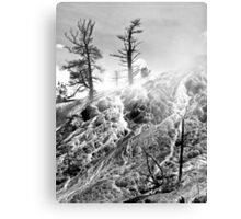 Sulfur and steam Canvas Print