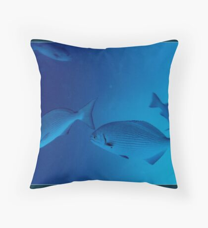 The blue abyss Throw Pillow
