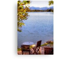 Table For Two - Mirror Lake Canvas Print