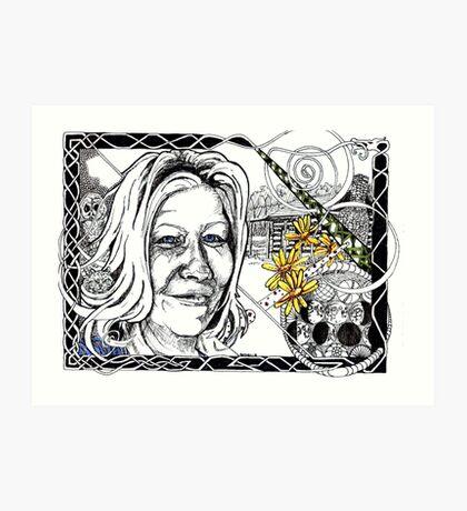 Rebecca - portrait of a West Virginian Lass Art Print