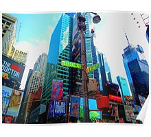 New York, Broadway and Times Square Poster