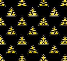 Biohazard Symbol Warning Sign - Yellow & Black - Triangular - Tiled by graphix