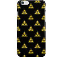 Biohazard Symbol Warning Sign - Yellow & Black - Triangular - Tiled iPhone Case/Skin