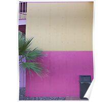 Two tone wall in La Placita Village Poster