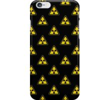 Radioactive Symbol Warning Sign - Radioactivity - Radiation - Yellow & Black - Triangular - Tiled iPhone Case/Skin