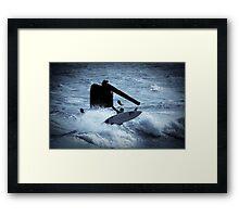 Surfing Cottesloe beach Framed Print