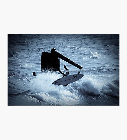 Surfing Cottesloe beach Photographic Print