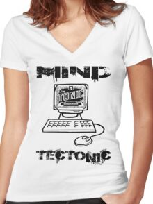 MIND TECTONIC Women's Fitted V-Neck T-Shirt