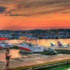 Sundown on the Dock by Chelei