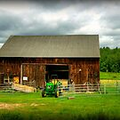 The Tractor and Barn by Monica M. Scanlan