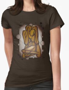 Abstract Lovers In Brown T-Shirt