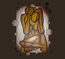 Abstract Lovers In Brown Womens Fitted T-Shirt